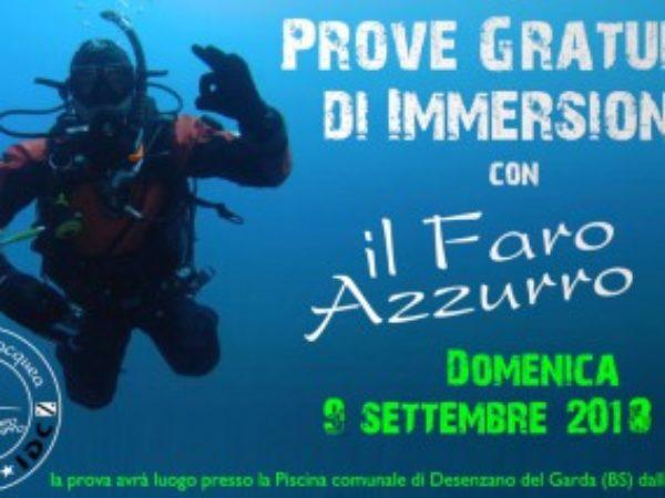 PROVE GRATUITE DI IMMERSIONE SUBACQUEA!